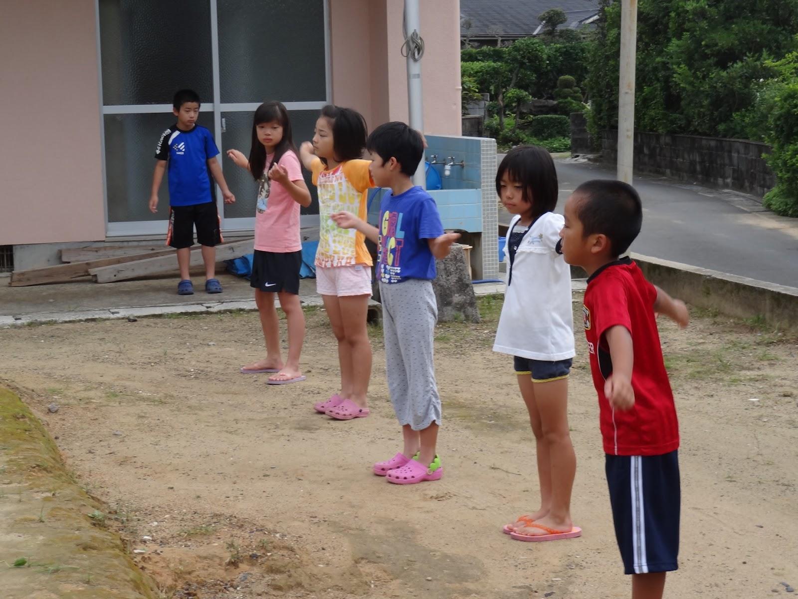 ゆらい木: 朝のラジオ体操 ゆらい木 奄美市立屋仁小学校PTAのブログ...  朝のラジオ体操