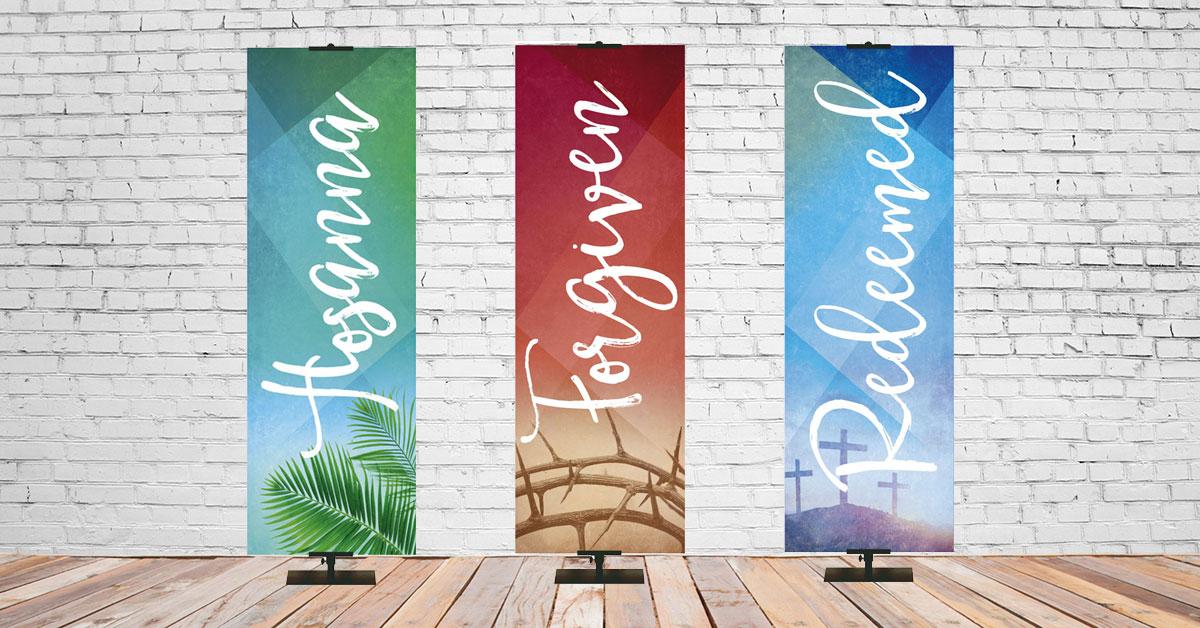 Easter Banners PraiseBanners.com