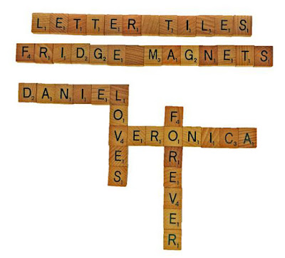 Personalized wooden alphabet letter arrange in different names