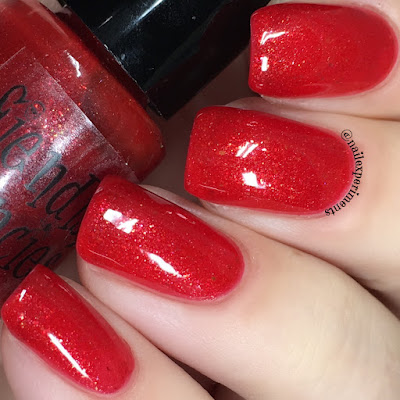 fiendish fancies crimson worm swatch