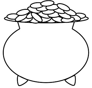 pots coloring pages | Celebrities Bollywood: leprechaun pot of gold coloring pages