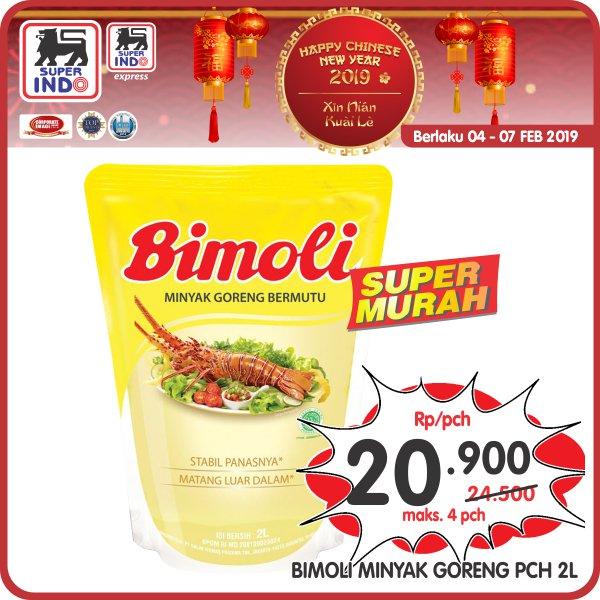 #Superindo - #Promo Minyak Goreng Bimoli 2L Rp.20Ribu Per Pouch (s.d 07 Feb 2019)