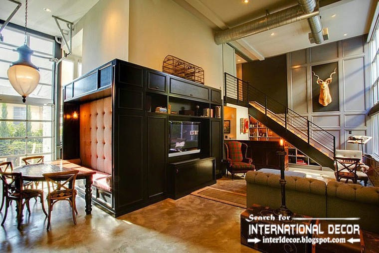 10 practical tips to creating retro interior design style - Vintage industrial interior design ...
