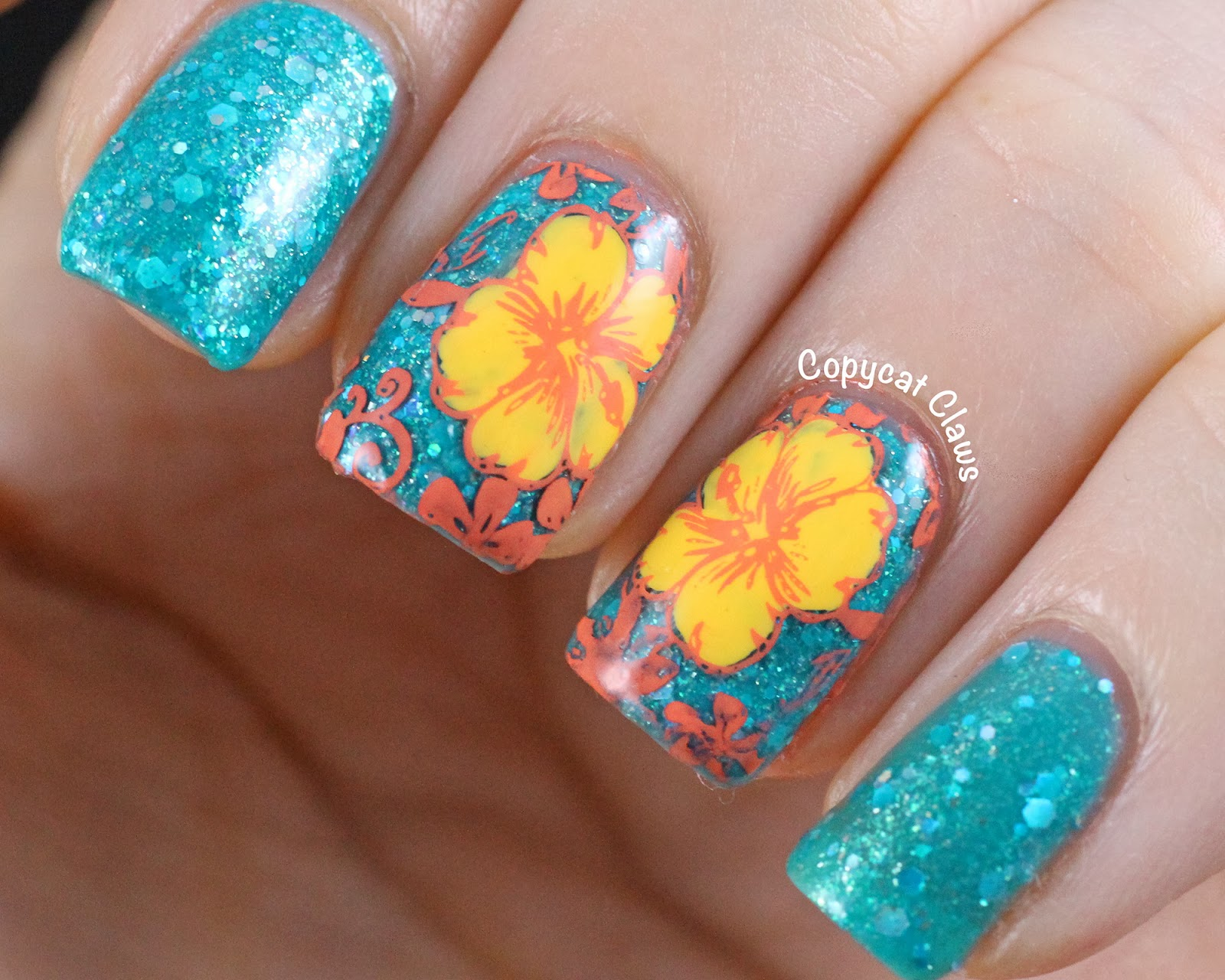 Copycat claws sunday stamping favorite flower izmirmasajfo
