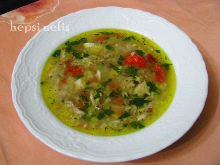 pirinçli tavuk çorbası