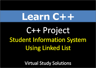 Student Information System C++ Project Using Linked List