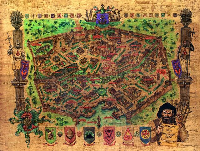 Mapa Baldur's Gate