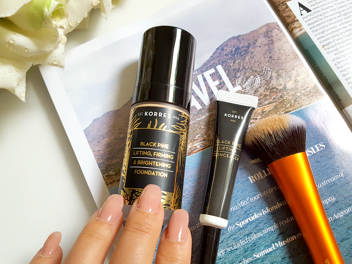 Review: KORRES Black Pine Colour - Lifting Concealer & Foundation 2