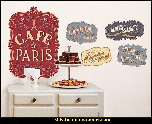 French cafe Paris Bistro style decorating ideas - French Country theme decorating ideas - French cafe theme decorating ideas - French country kitchens - French cafe decor - coffee themed decor - french coffee shop decor