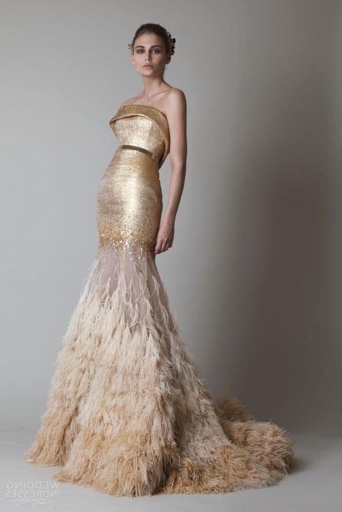 Gold Breathtaking Wedding Dresses 2016 | my wedding ideas