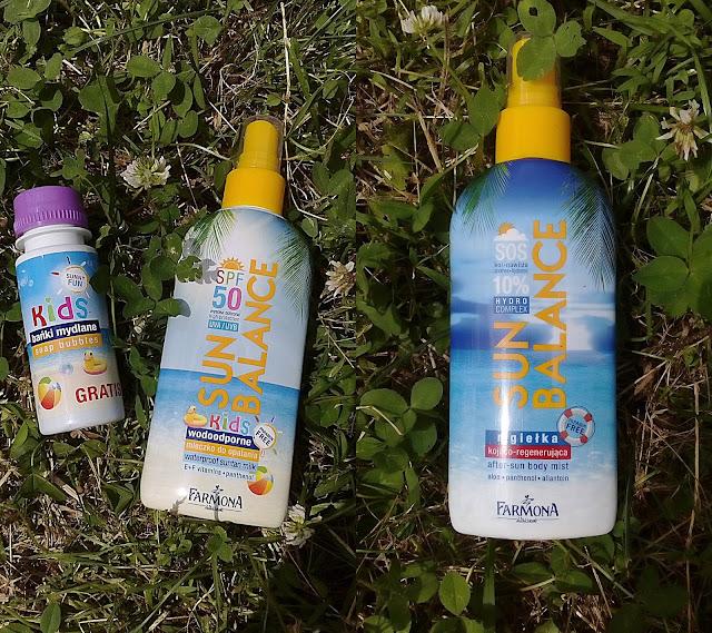 Sun balance wodoodporne mleczko do opalania SPF50 oraz mgiełka kojąco-regenerująca- Farmona