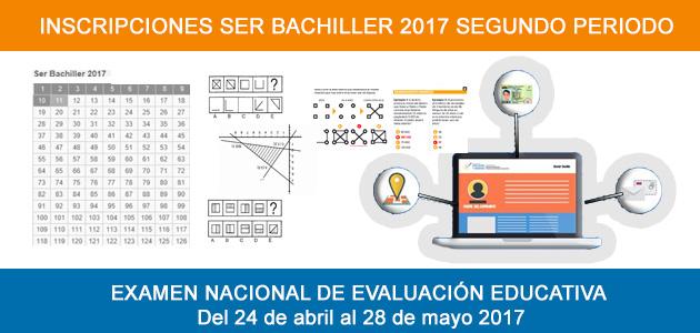 Inscripciones  Examen Ser Bachiller – SNNA  segundo periodo del 2017