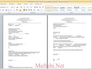 Download Contoh SPJ/LPJ BOP PAUD Terbaru