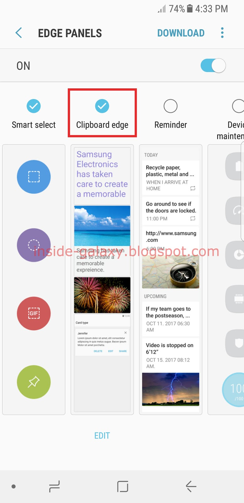 Samsung Galaxy S8: How to Enable and Use Clipboard Edge