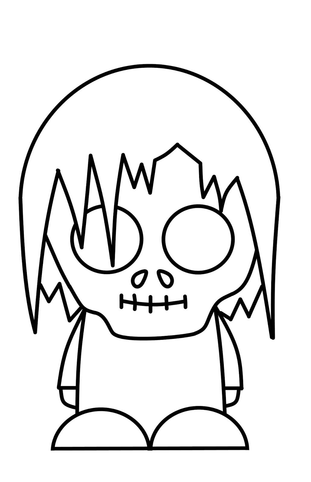 This is an image of Soft Zombie Drawing Simple