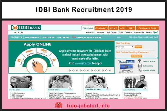 IDBI Bank Recruitment 2019: IDBI Bank Limited invites 40 candidates for the post of Chartered Accountant