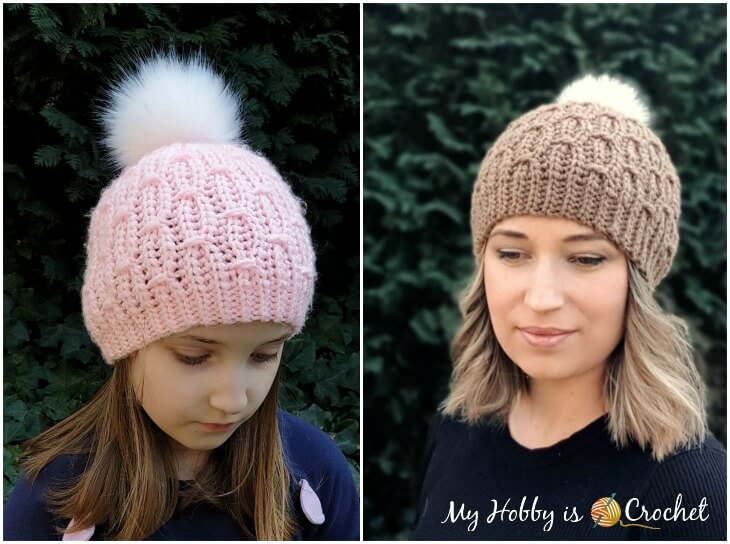 Mock Cable Hat - Free Crochet Pattern
