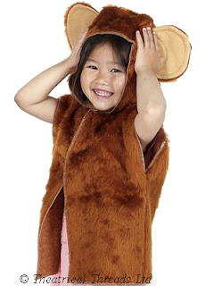 Monkey Tabard One Size Kids Costume from Theatrical Threads Ltd