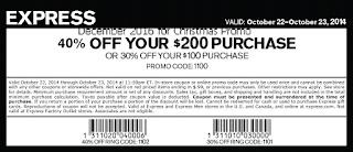Express coupons december