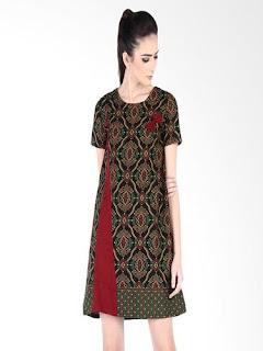 Gaun Batik Modern Anak Muda