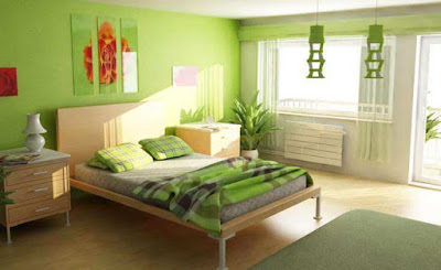 ห้องนอนสีเขียว