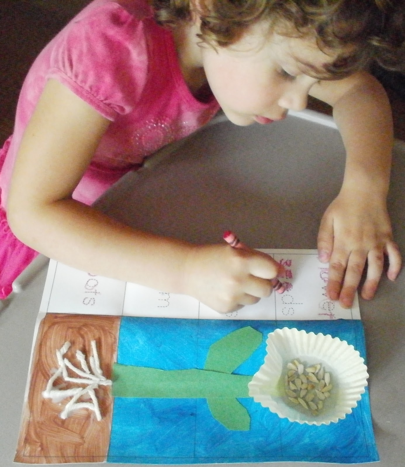 Little Stars Learning Cupcake Liner Garden Theme Craft
