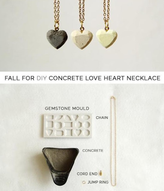 Make a concrete necklace from Fall For DIY Blog
