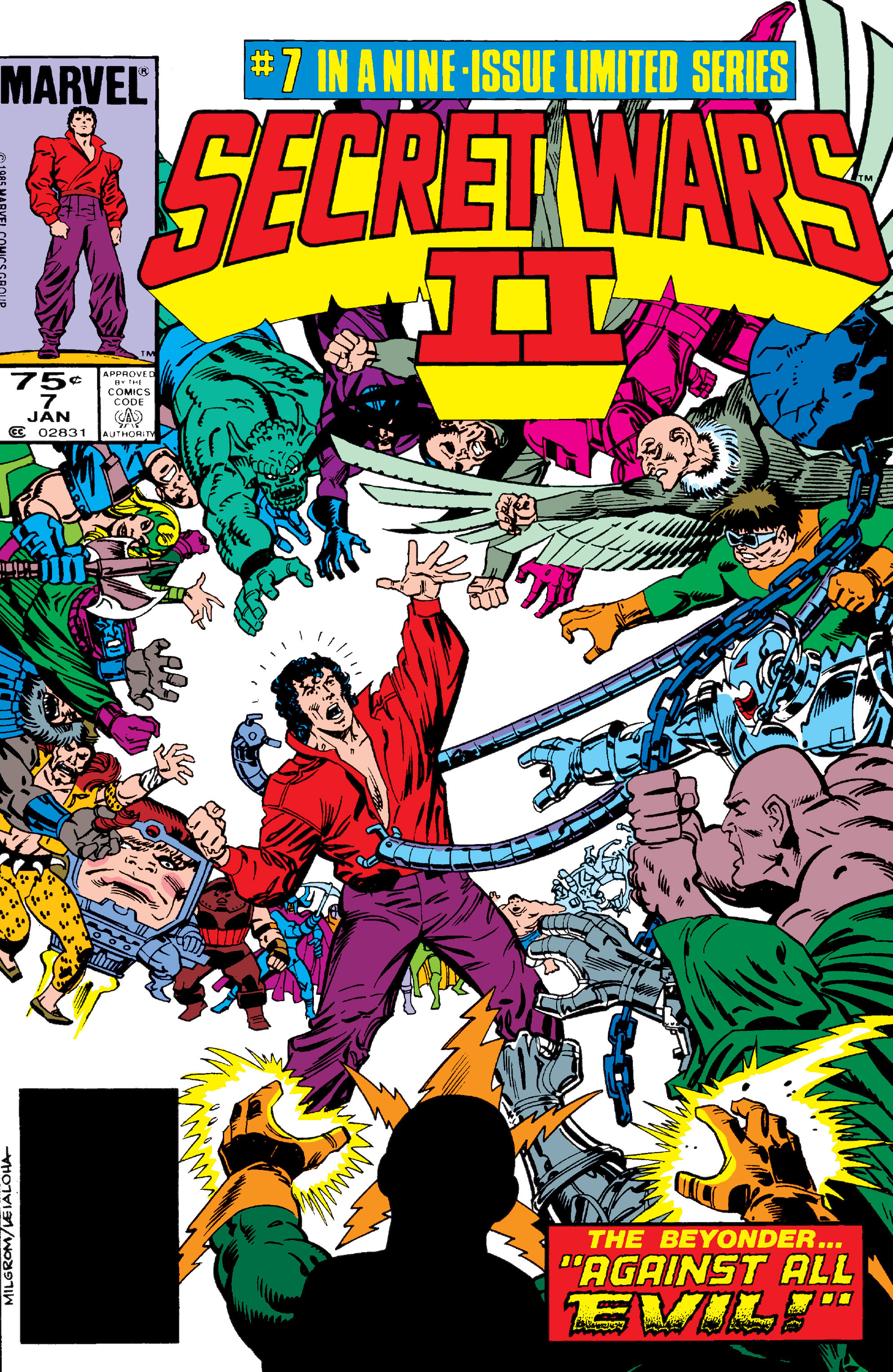 Read online Secret Wars II comic -  Issue #7 - 1