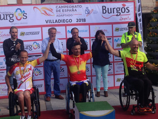Plata y Bronce en los campeonatos de España de ciclismo adaptado