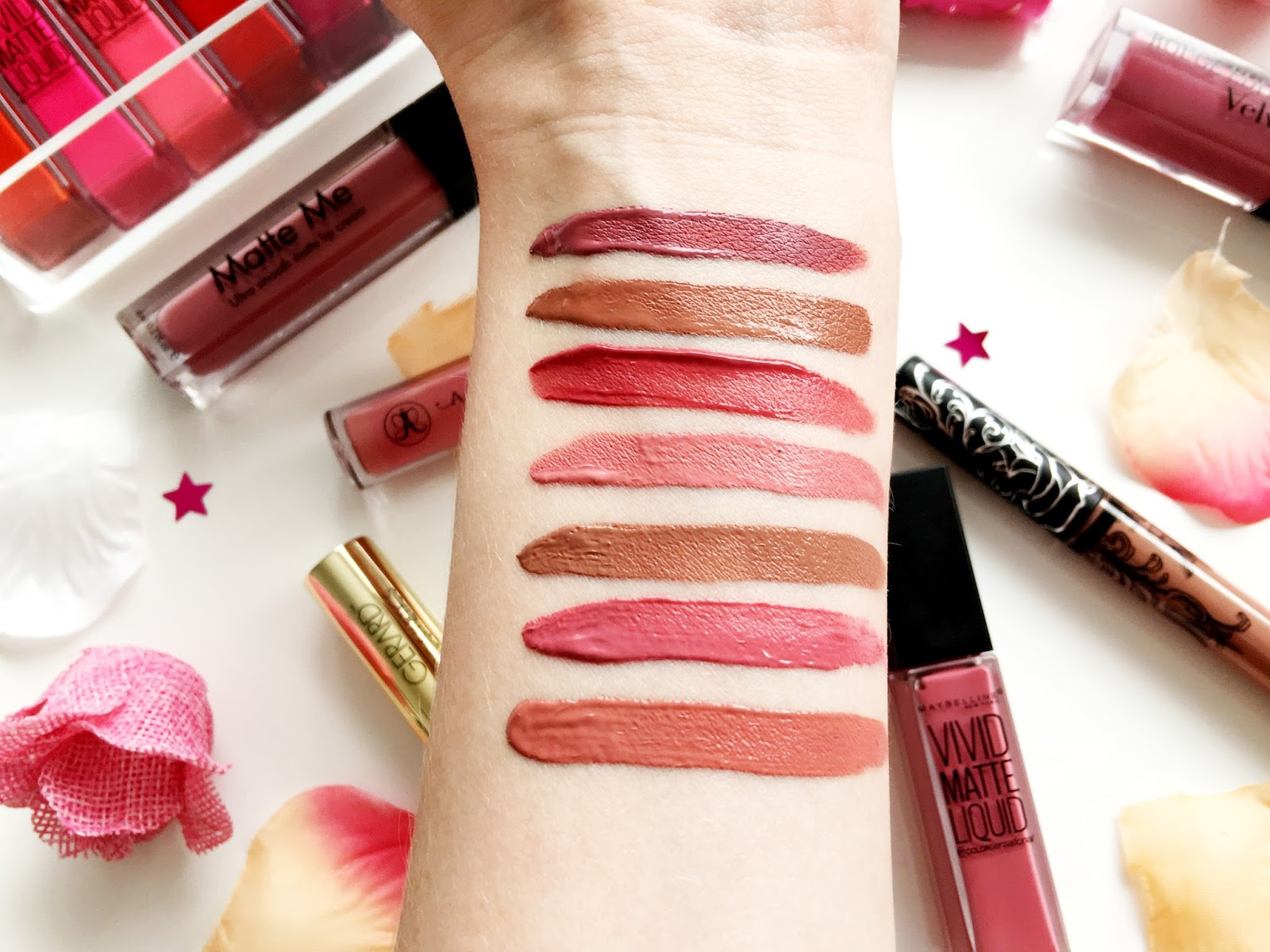 Favourite Liquid Lipstick Swatches
