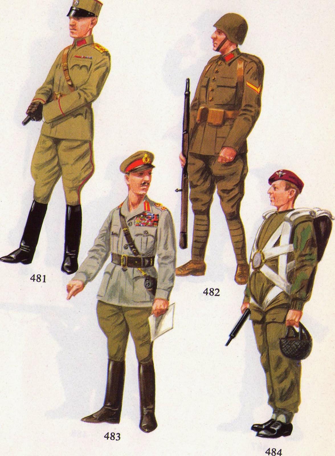 Popolare uniformologia: II Guerra Mondiale 1944. Jugoslavia, Grecia, Gran  FM67