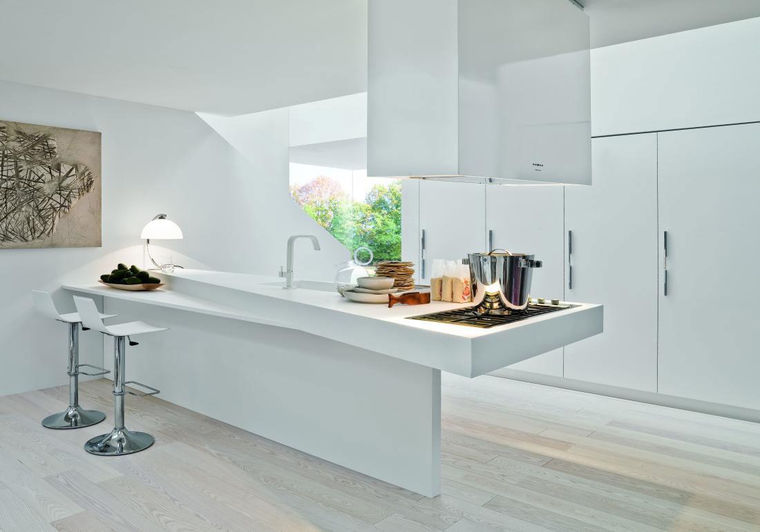 Caprichosa encimera de cocina cocinas con estilo - Encimera de corian ...