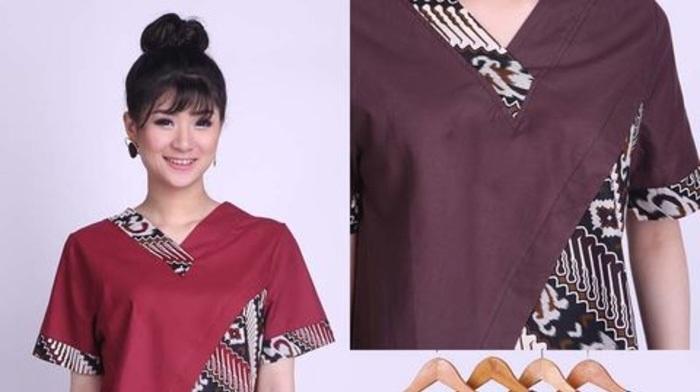 Model Baju Batik Untuk Wanita Gemuk Agar Terlihat Langsing Pilih Kerah  Berbentuk V 4a9cd13502