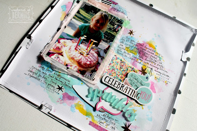 """ Celebrating You"" layout by Bernii Miller for Sugar Maple Paper co using the Cake for Breakfast kit"