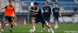Isco y Modric, las buenas noticias del entrenamiento de hoy