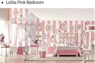 desain kamar tidur pink