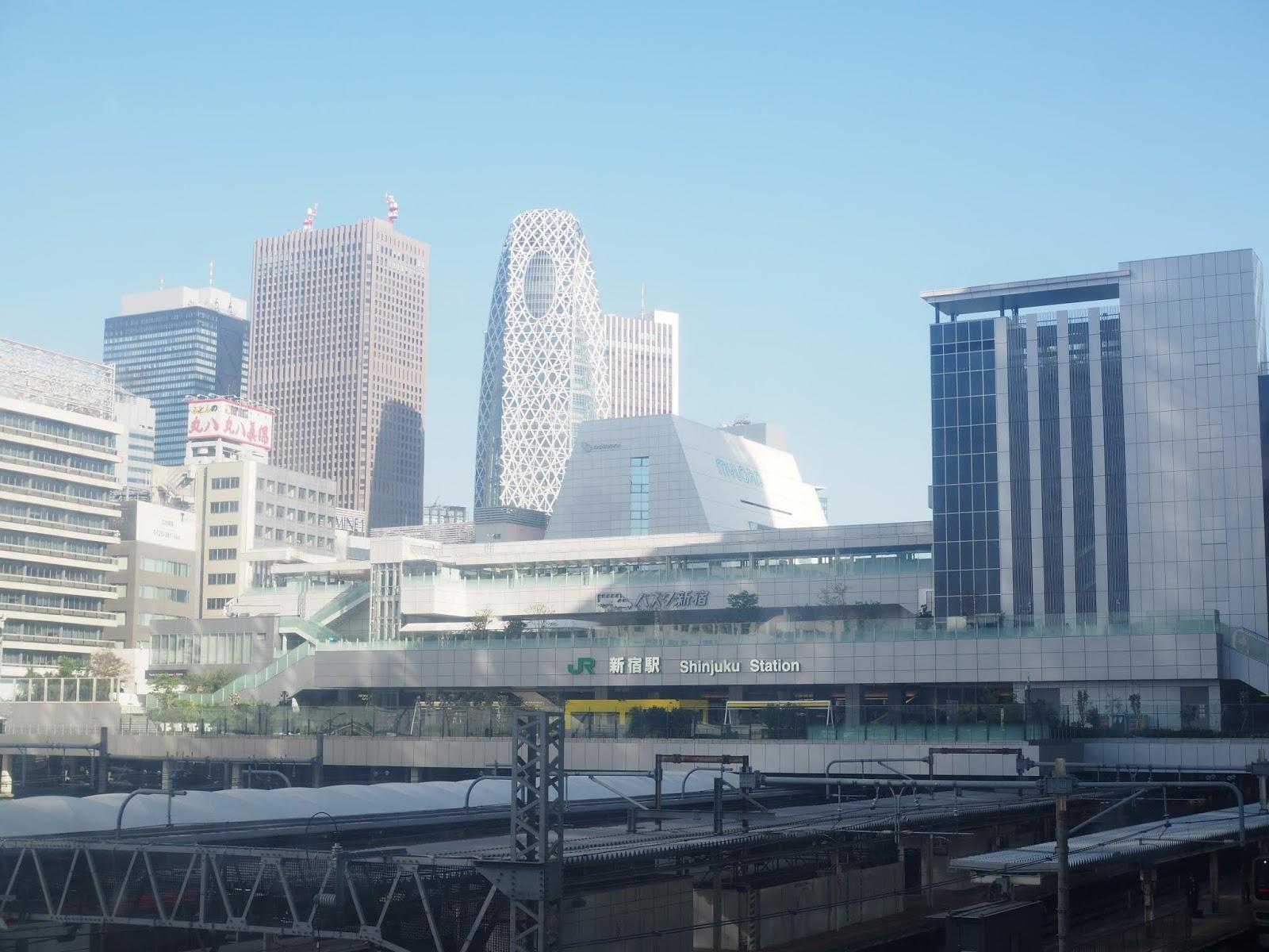 Shinjuku Station going to Bus Terminal