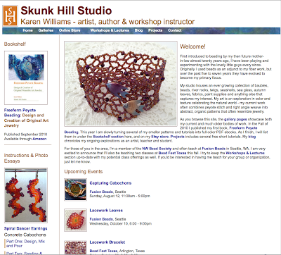 Screenshot of trial home page for www.skunkhillstudio.com