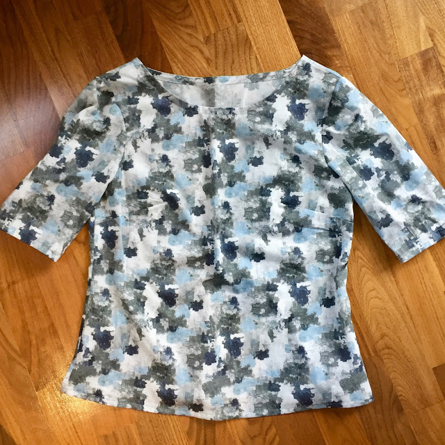Diary of a Chain Stitcher: John Lewis Cotton Lawn Print Colette Laurel Blouse