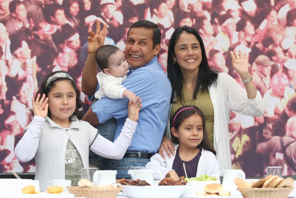 Humala y su familia. FOTO: Especial