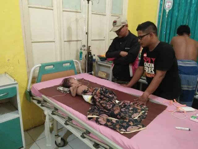 Bocah penderita gizi buryk di Tanjungbalai saat masih hidup dan dirawat di RSU T Mansyur Tanjungbalai.