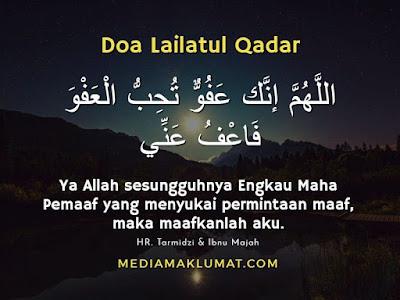 Doa Malam Lailatul Qadar Dalam Bahasa Arab Dan Rumi