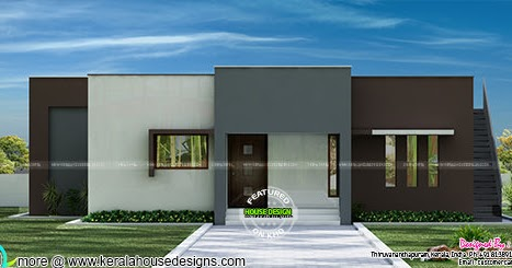 Minimalist house single floor kerala home design and for Minimalist house quebec