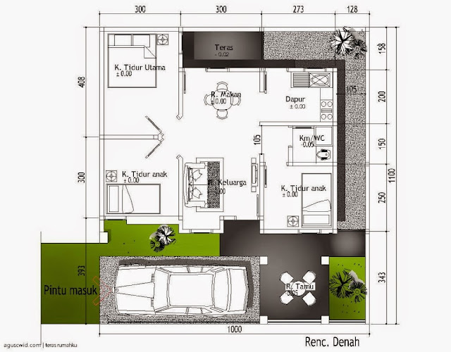 Gambar Denah Rumah Minimalis Sederhana