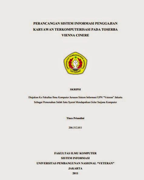Skripsi Perancangan Sistem Informasi Penggajian Kariyawan Pada