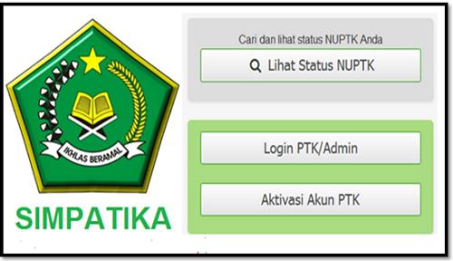 Kumpulan Formulir Registrasi PTK Pada Simpatika Kemenag Terbaru