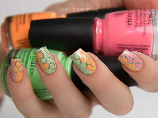China-Glaze-Lite-Brites-Lime-Lip-Smackin-Risky-Business-Honeycomb-Nail-Art