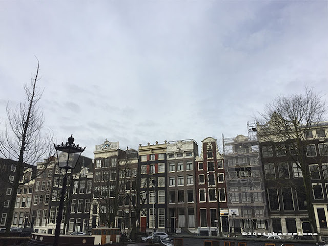 Amsterdam canal houses facades