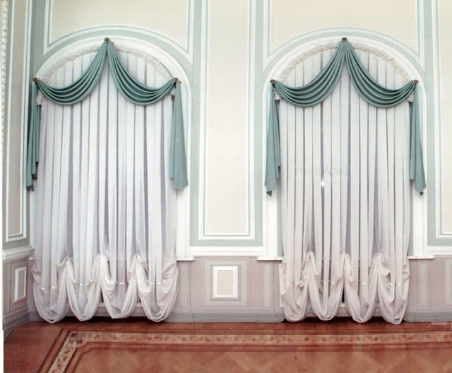 classy curtain designs for arched window treatment