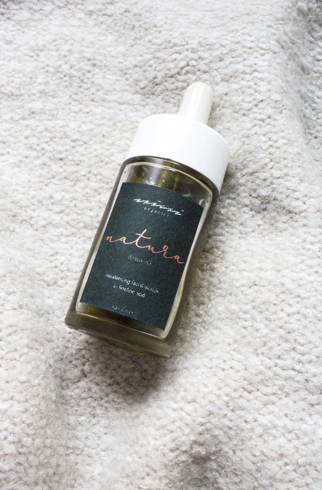 Nini Organics Natura Detox Oil detoxifying, balancing, acne prone skin. Natural, organic, vegan